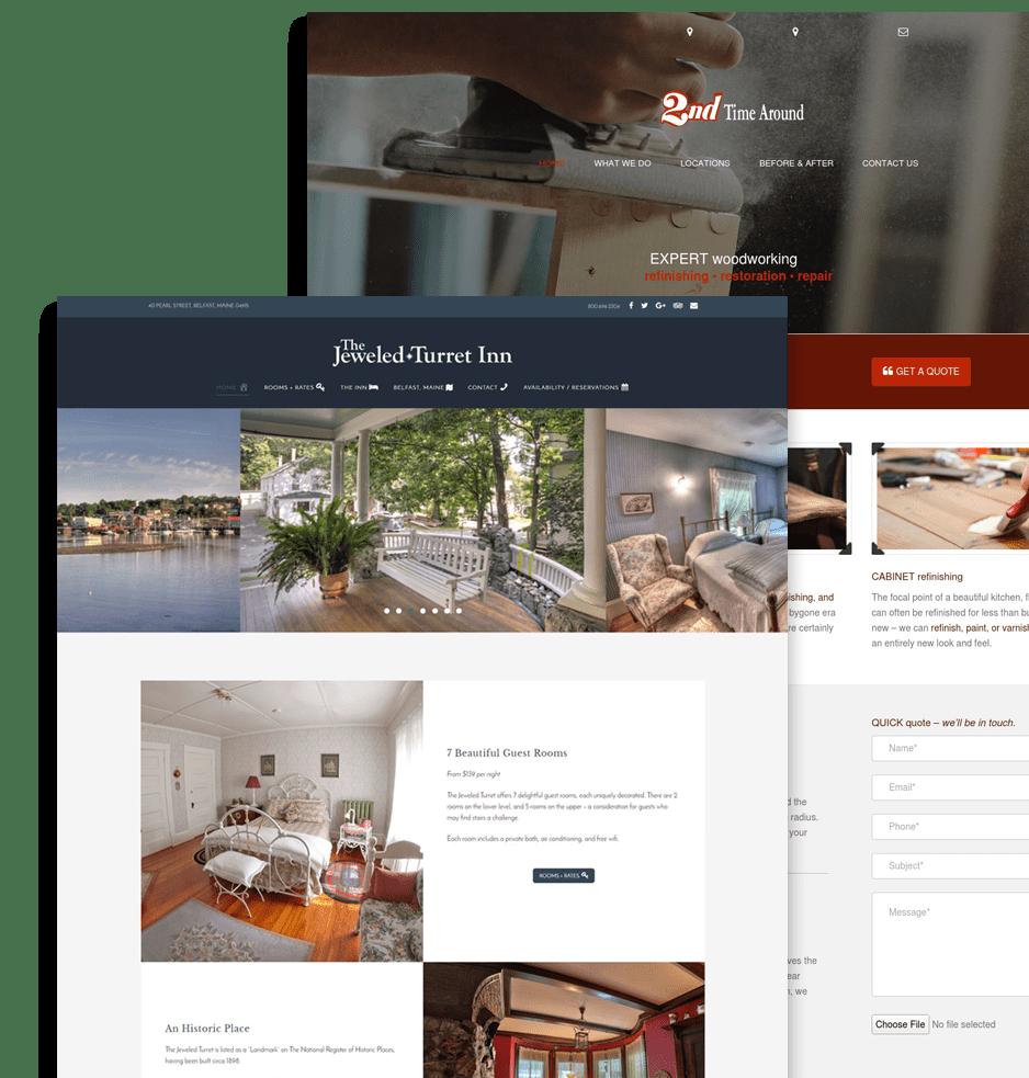 hospitality website design offer